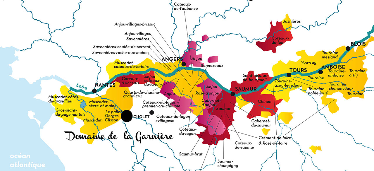 carte vins val de loire